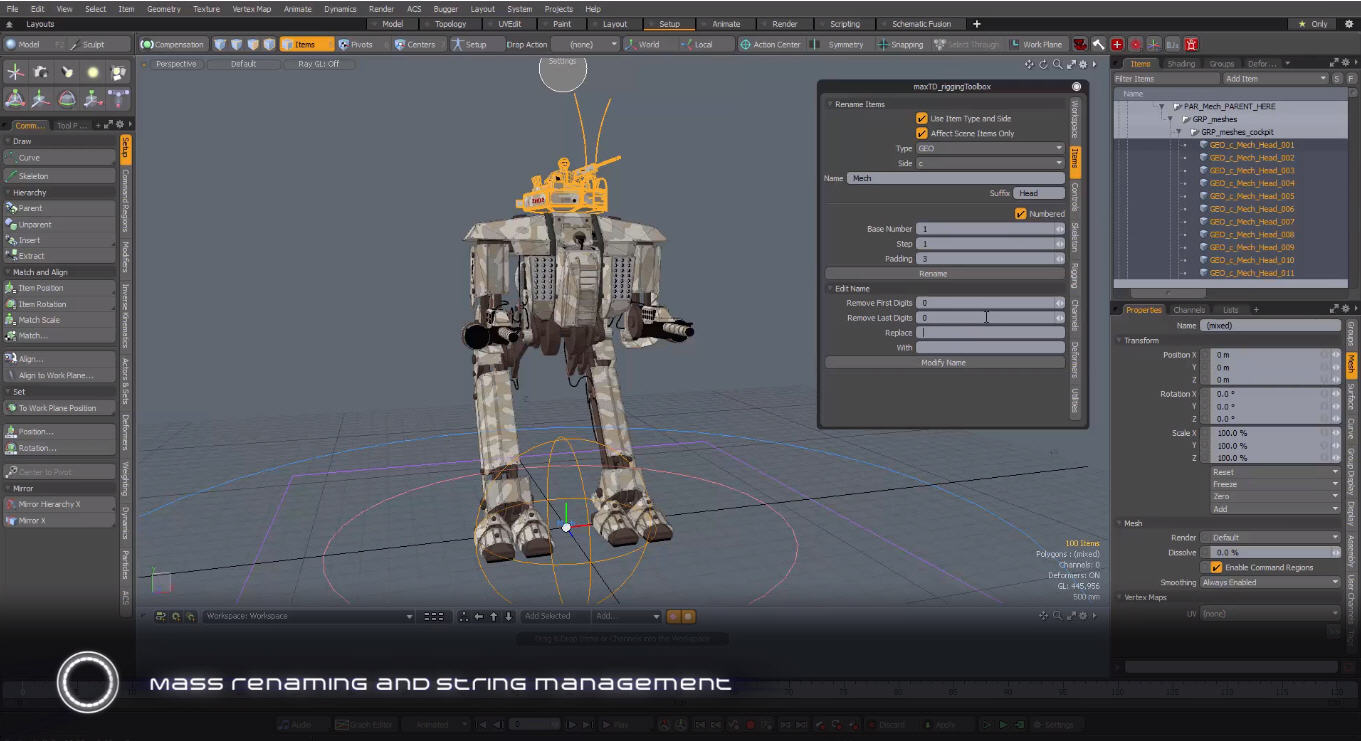 MaxTD Rigging Toolbox Kit for Modo 1.2 released - Plugins