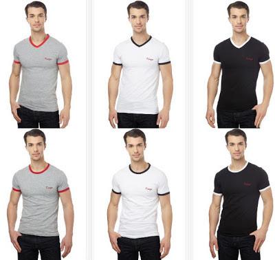 Camisetas ajustadas con cuello de pico o redondo