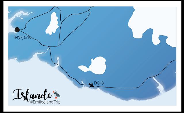My Travel Background : où trouver l'avion abandonnée dans le désert islandais? Islande avion DC-3 américain - Carte