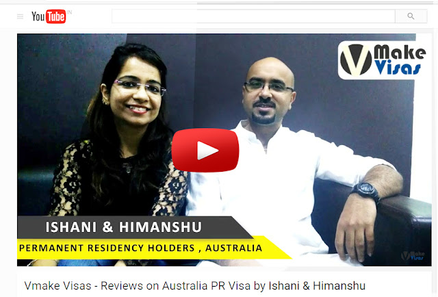 Vmake Visas - Reviews on Australia PR Visa by Ishani & Himanshu
