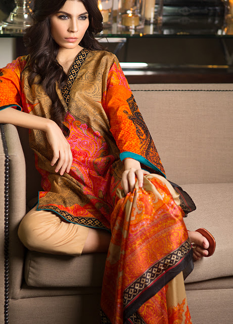 Best Silk Dresses Collection for eid in 2015