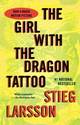 The Girl with the Dragon Tattoo by Stieg Larsson (book cover)