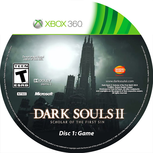 Label Dark Souls 2 Scholar Of The First Sin Disc 1 Game Xbox 360