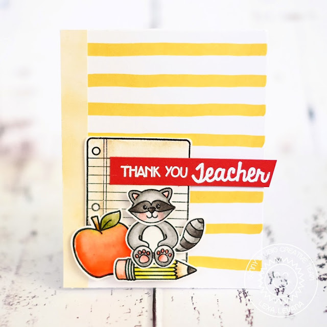Sunny Studio Stamps: School Time Thank You Teacher Card by Lexa Levana.