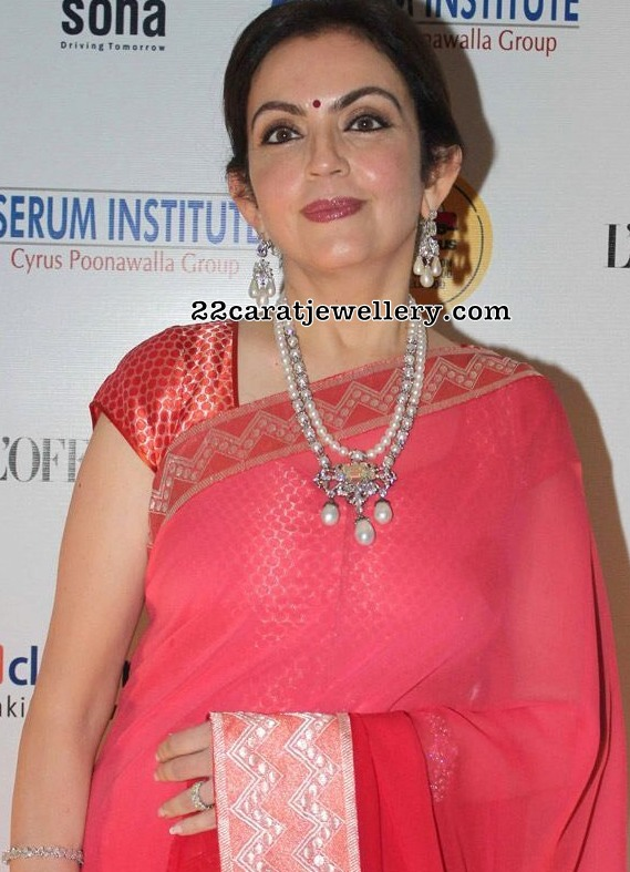 Nita Ambani in Pearls Long Chain