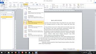 cara membuat page number otomatis di ms word