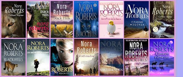 Portadas del libro romántico de suspense Colinas negras, de Nora Roberts