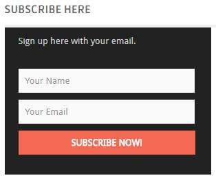 subscribe newsletter for blogger and website