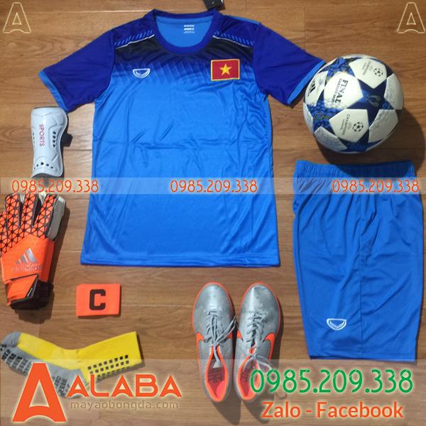 Áo Đội Tuyển Việt Nam 2019 Training Màu Xanh Nhạt