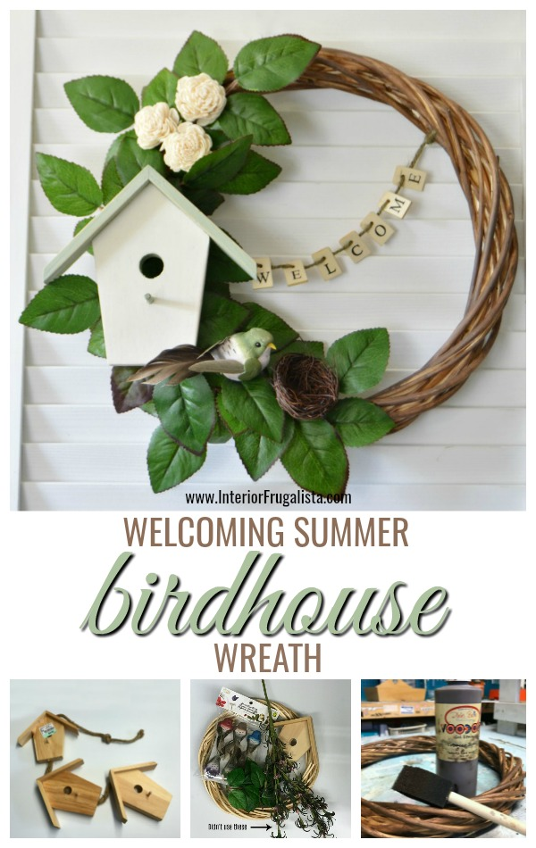 A Welcoming Summer Birdhouse Wreath