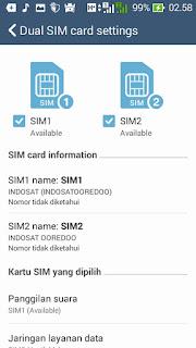 Pengaturan Dual SIM
