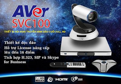 SVC100 là thiết bị hội nghị truyền hình AVer đầu cuối thế hệ mới
