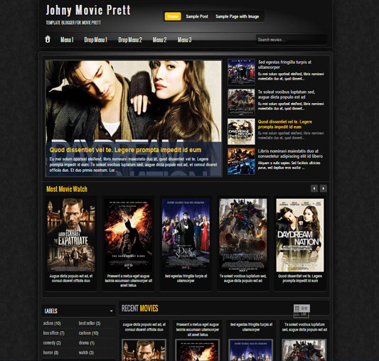 Top 10 Movie Templates For Blogger 2016