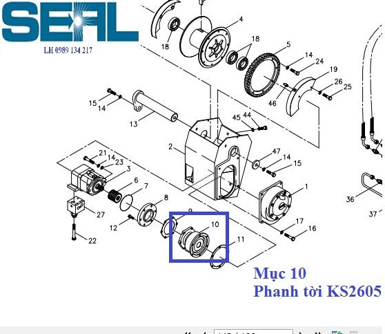 Phanh tời cẩu Kanglim 10 tấn KS2605-H1039783