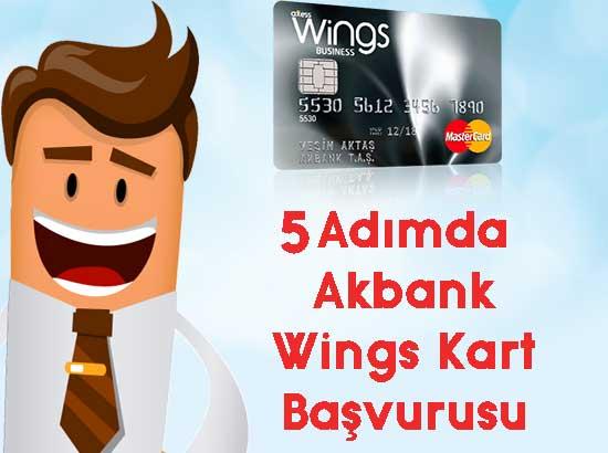 5 adımda akbank wings kart başvurusu