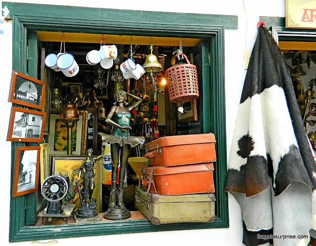 Loja de antiguidades em Villa de Leyva, Colômbia