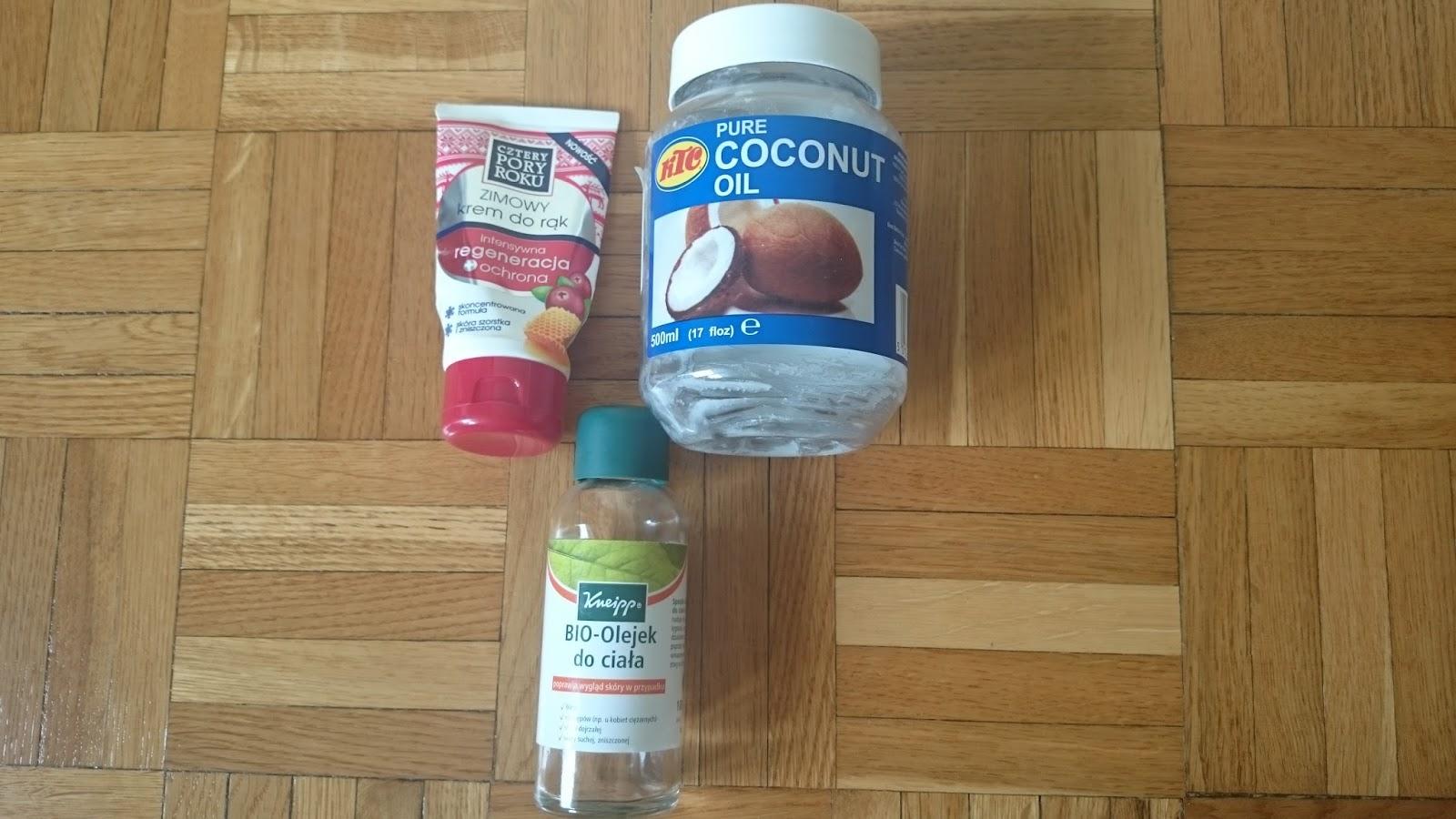 olej kokosowy, najlepszy krem do rąk, kneipp bio olejek