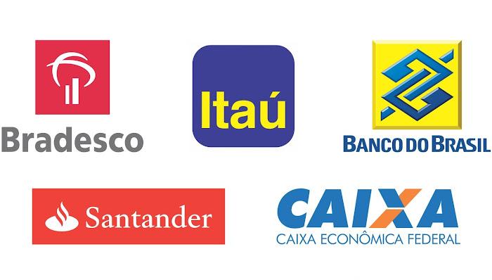 Código do Banco do Brasil, Bradesco, Caixa, Itaú, Santander