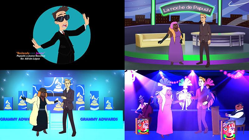 Papushi y Juana Bacallao - ¨Bailando con Juana¨ - Dibujo Animado - Videoclip - Dirección: Adrián López. Portal del Vídeo Clip Cubano