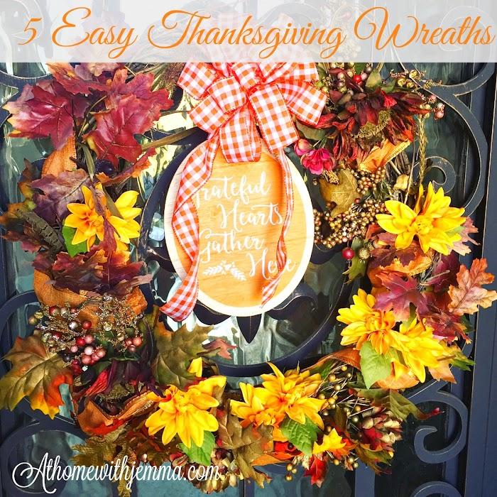 5 Thanksgiving Wreaths