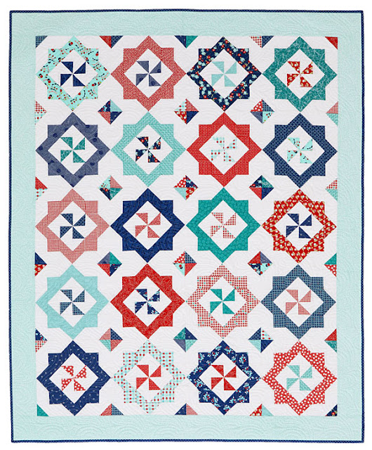 Breezy quilt from the August 2017 issue of American Patchwork & Quilting, designed by Andy Knowlton of A Bright Corner