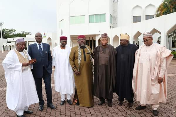 Photos from President Buhari's meeting with APC Governors