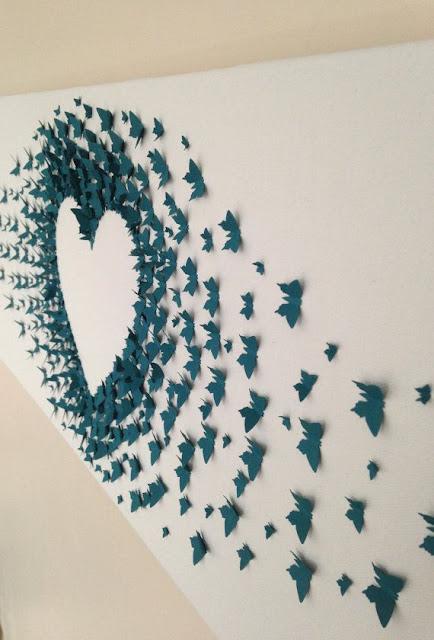 papierowe motyle wzory