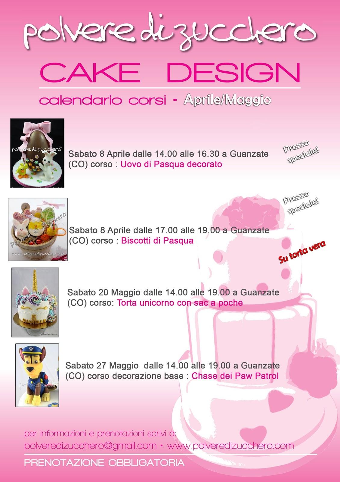 cake design corso corsi sugar art pasta di zucchero polvere di zucchero modelling torta decorazione zucchero