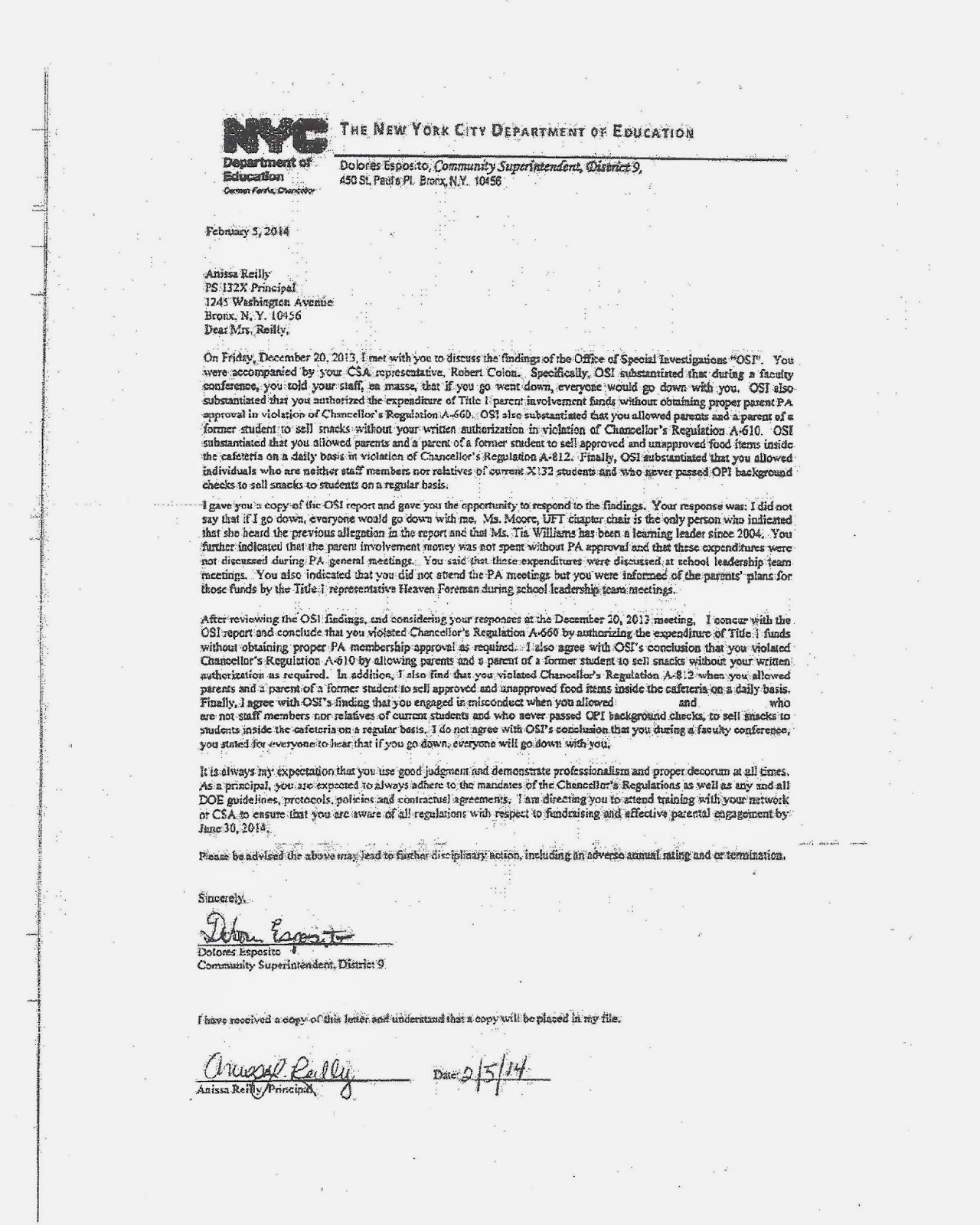 Sexual harassment nyc doe sesis
