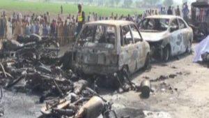 Pakistan fuel tanker fire