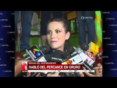VIDEO: LA ESPOSA DEL VICEPRESIDENTE HABLÓ SOBRE EL PERCANCE EN ORURO