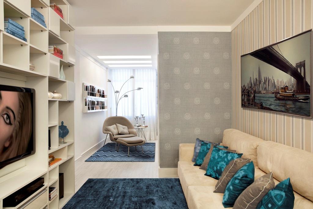 Sala De Estar Com Uma Parede Azul ~  Minha Casa Clean Dúvida de Decoração Sala de Estar Pequena