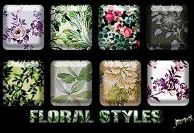 تحميل ستايل زهور وورود للفوتوشوب مجاناً, Photoshop Styles free Download, Photoshop Floral Styles free Download