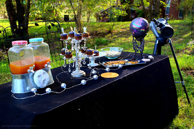table decorated for a star party