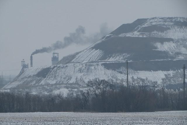 шахта Степная зимой