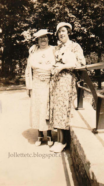 Mary Theresa Walsh and Catherine Barany about 1937 https://jollettetc.blogspot.com