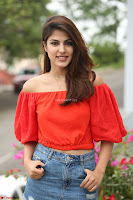 Rhea Chakraborty in Red Crop Top and Denim Shorts Spicy Pics ~  Exclusive 161.JPG