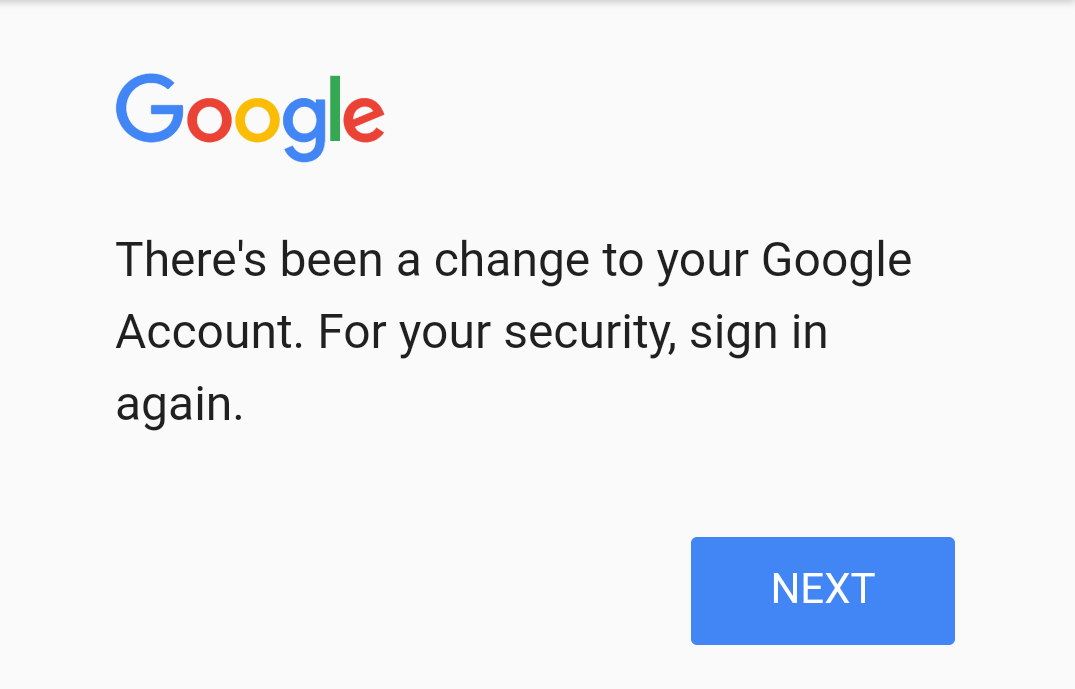 Update Account Action Required People Getting Signed Out Of Google Play Services