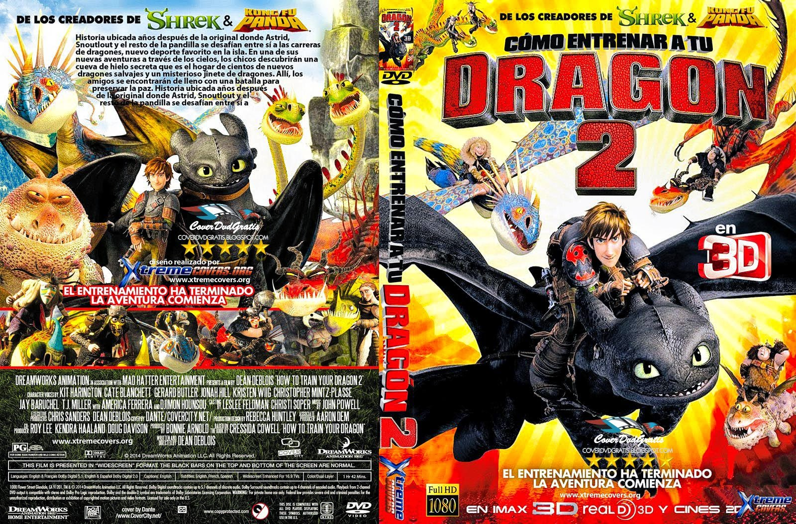 How to Train Your Dragon 2 2014 DVD COVER - CoverDvdGratis