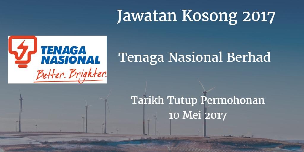 Jawatan Kosong TNB 10 Mei 2017