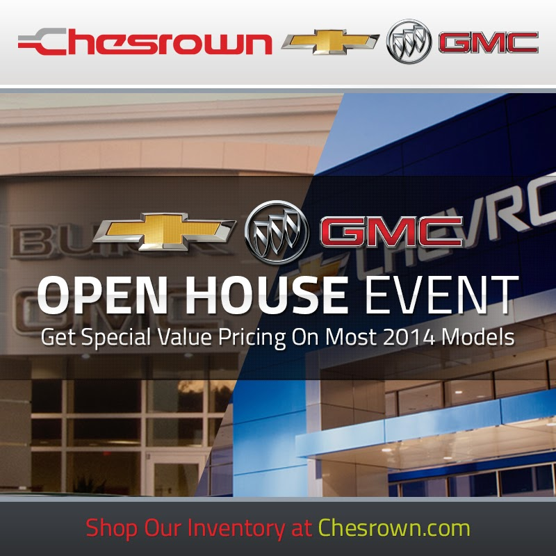 chesrown 39 s chevrolet buick gmc open house event. Black Bedroom Furniture Sets. Home Design Ideas