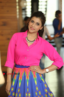 Actress Mannar Chopra in Pink Top and Blue Skirt at Rogue movie Interview  0107.JPG