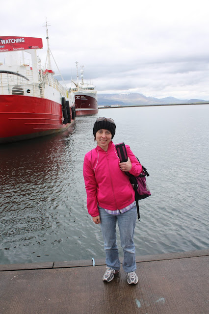 Getting ready to sail to Puffin Island in Iceland.