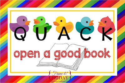 rubber duck reading poster