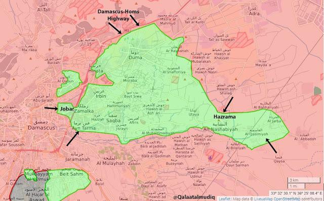 serangan di ghouta timur 31 1 2017