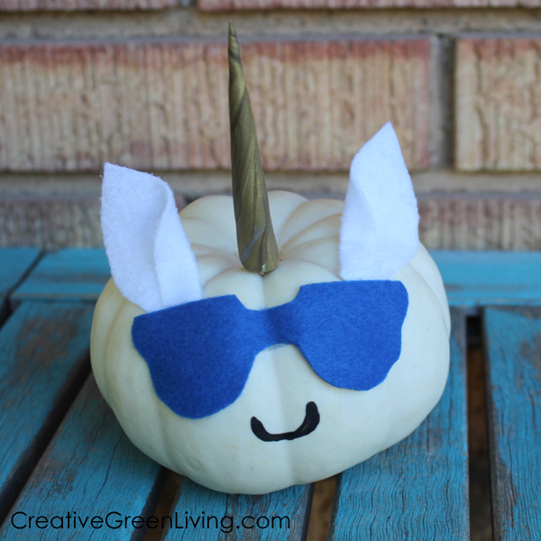 How to make a no-carve unicorn pumpkin craft