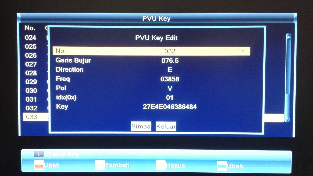 Cara Input ECM key Powervu MMP Lombok v3