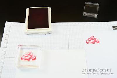 Stampin' Up Two Stemp Technik; Anleitung Stampin' Up Cupcakes; Glitzereffekt auf Karten machen; Bastelanleitung Stampin' Up
