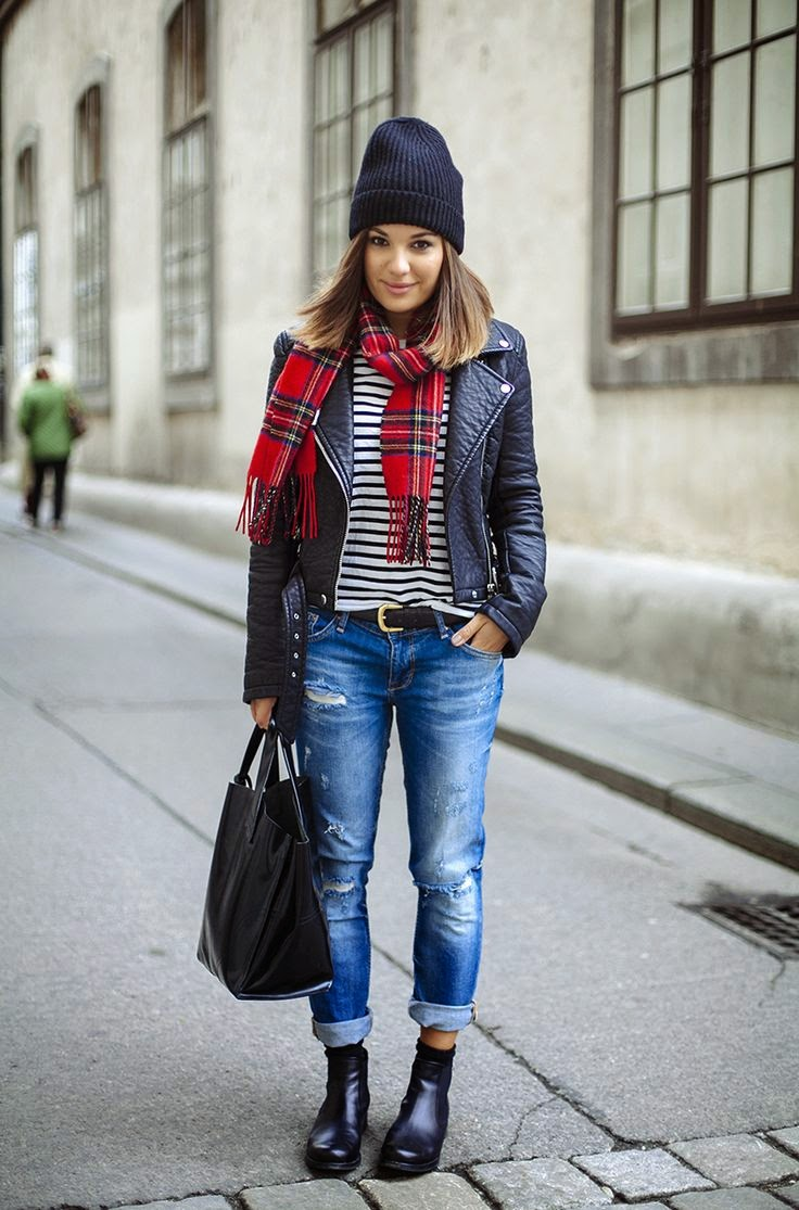 Outfit blue jeans street style My Passions 98