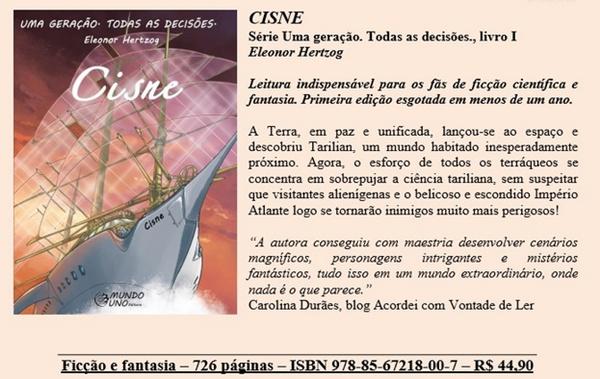 livro, Cisne, capa, sinopse